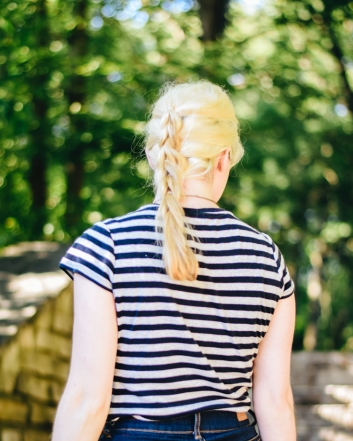 mox and socks thrift striped shirt modcloth denim shorts (3)